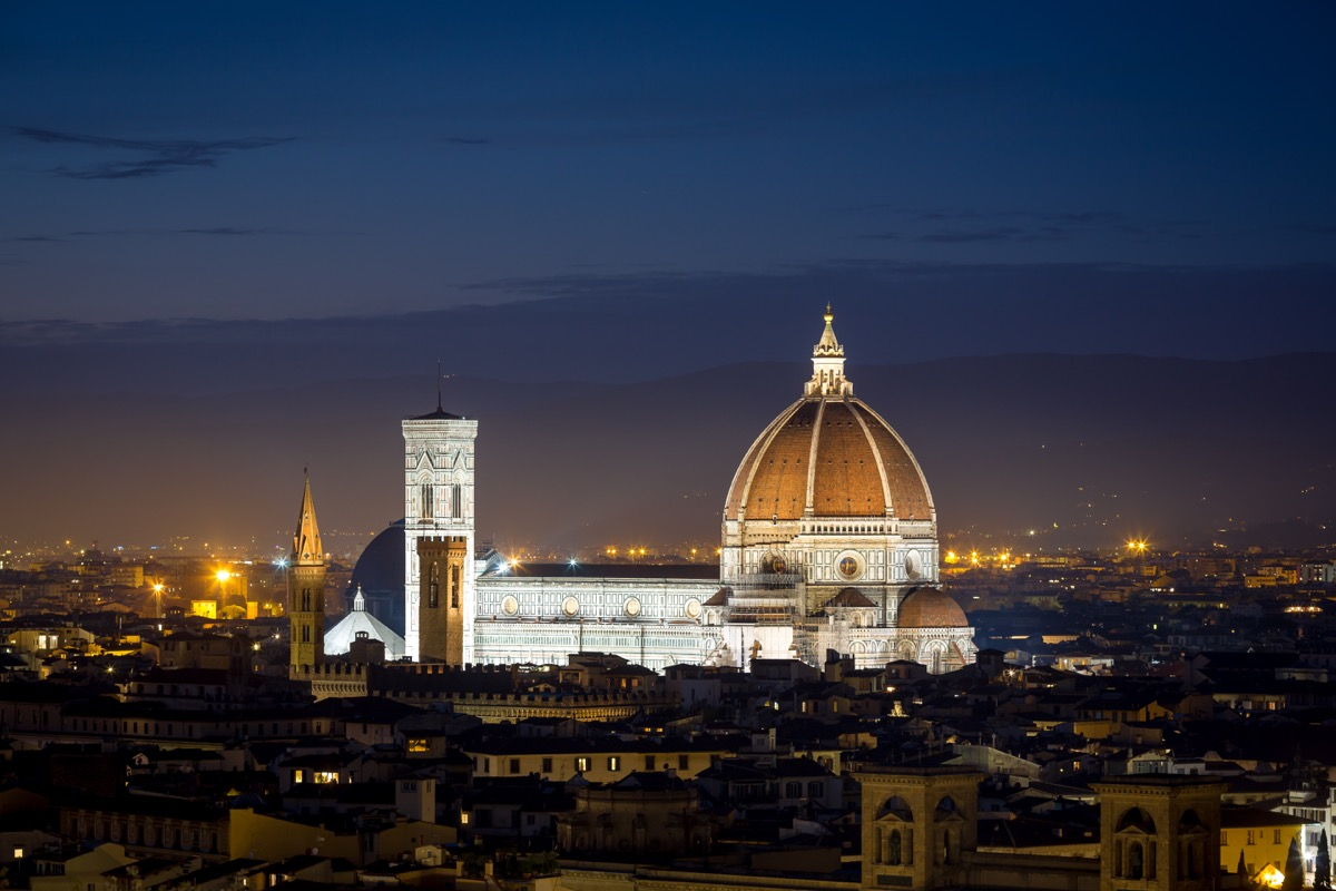 Florence's Dome at night