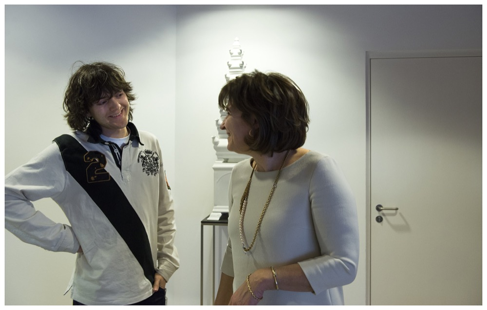 Lilianne Ploumen, Dutch minister of foreign trade and development cooperation, meets with Boyan Slat