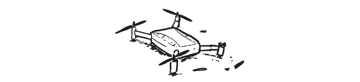 a comic of a broken drone