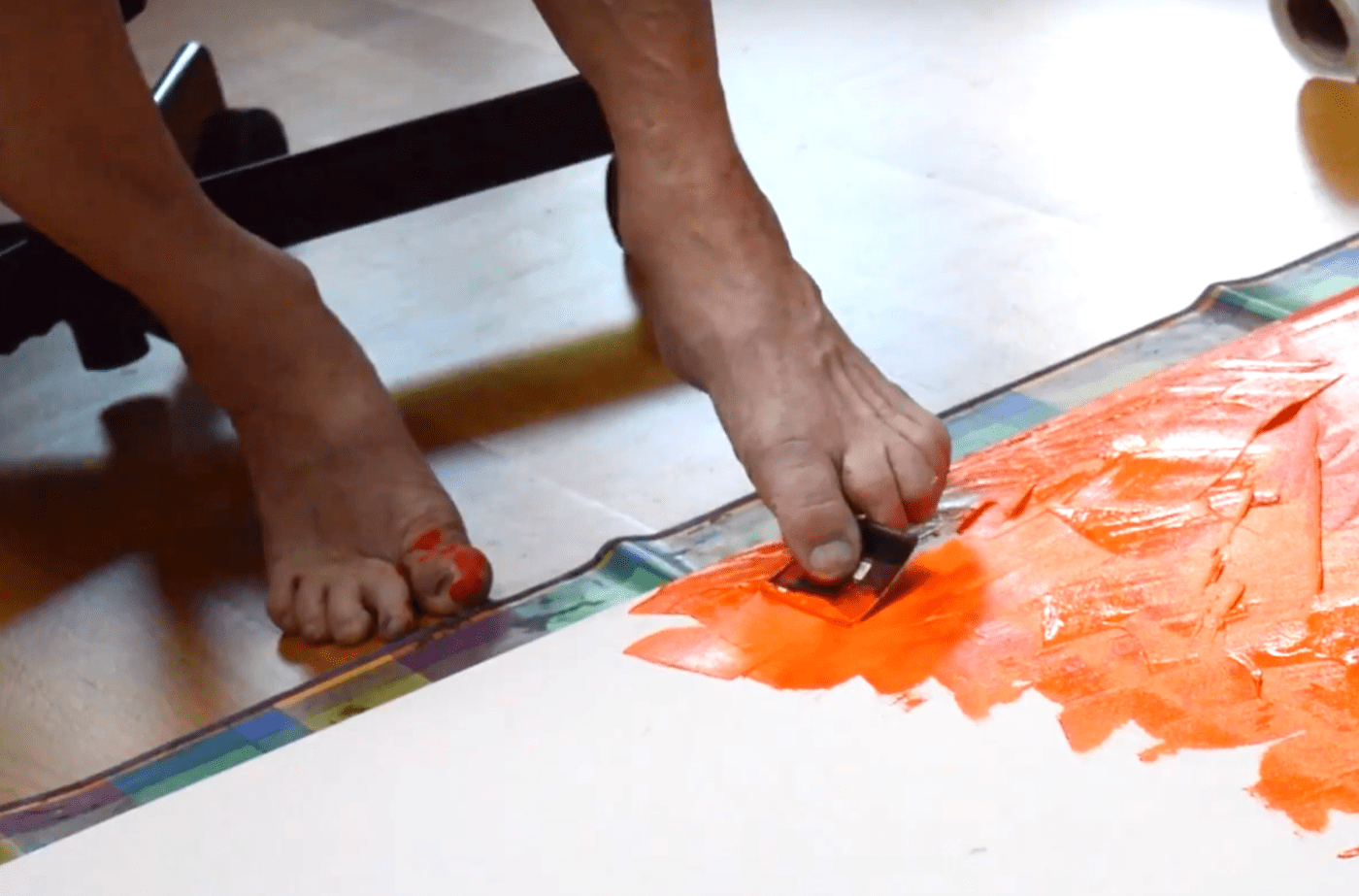 How Painting With Your Feet Changes Your Brain