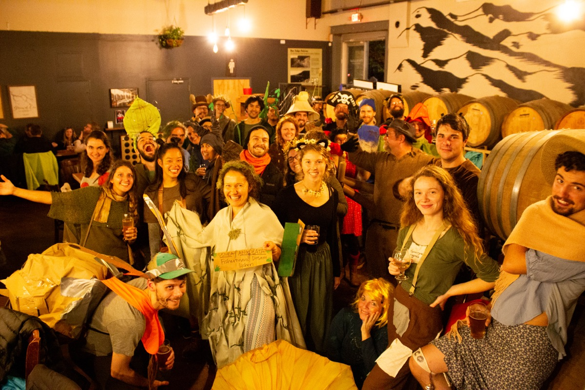 a group photo of people in costume as endemic species in the southern appalachians