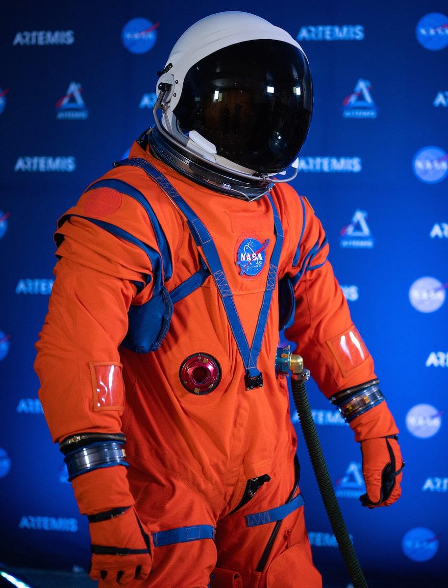 an orange fitting pilot suit