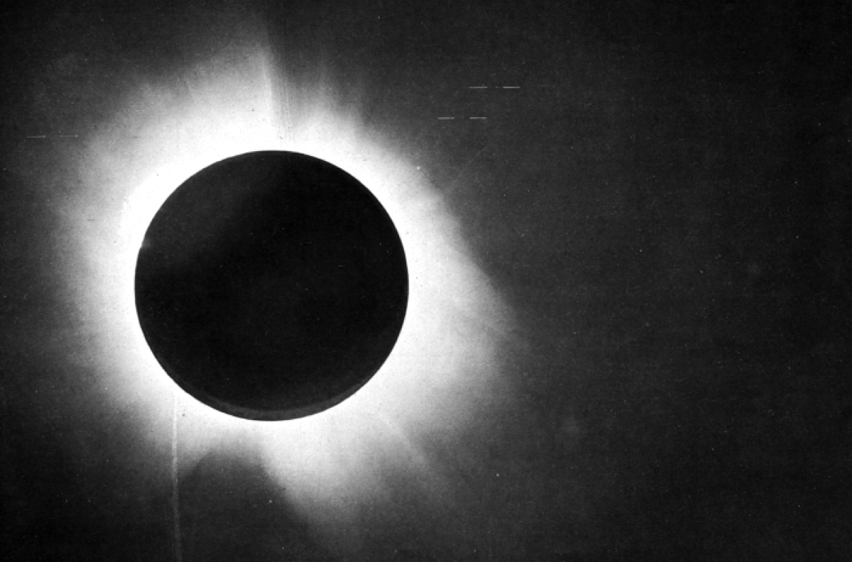 a black and white image of a solar eclipse