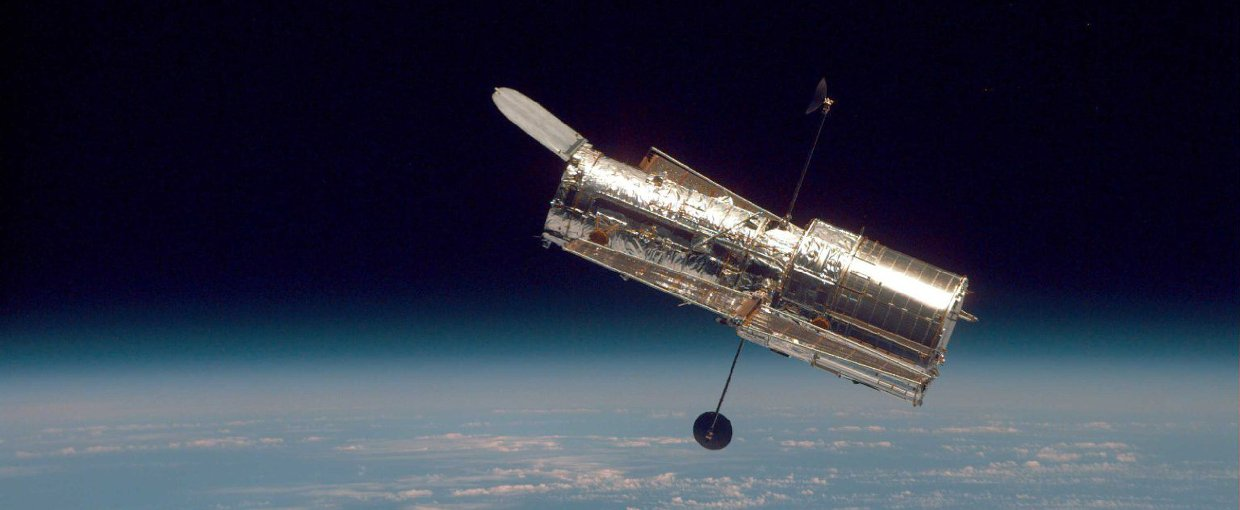 the hubble space telescope in orbit above earth