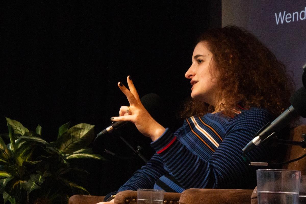 rachel feltman speaking on stage