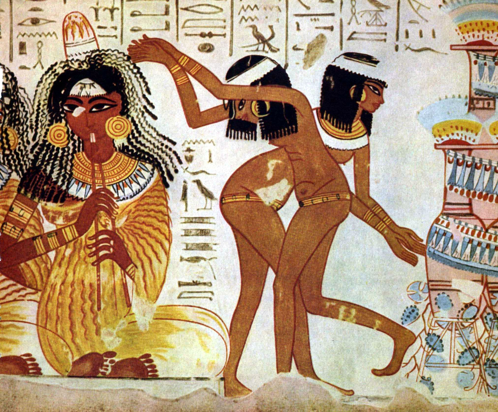 A fresco from the tomb of nebamun