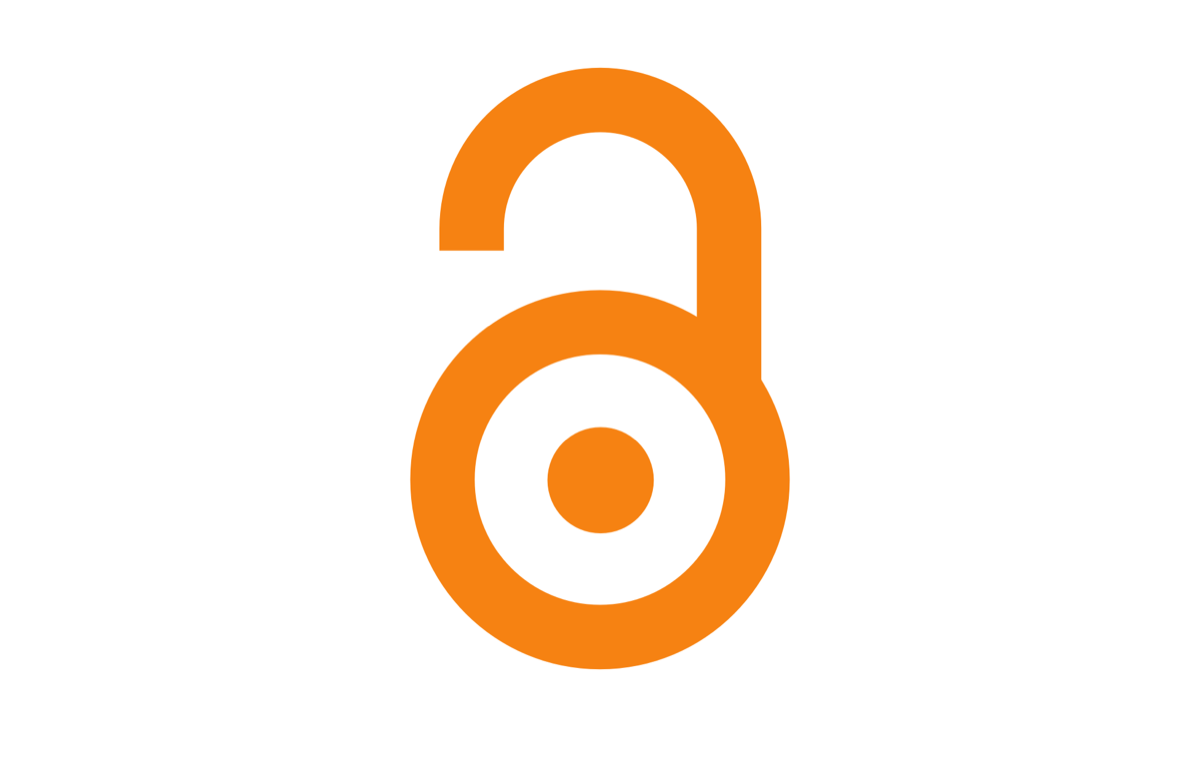 a simple logo of a lock that is unhooked