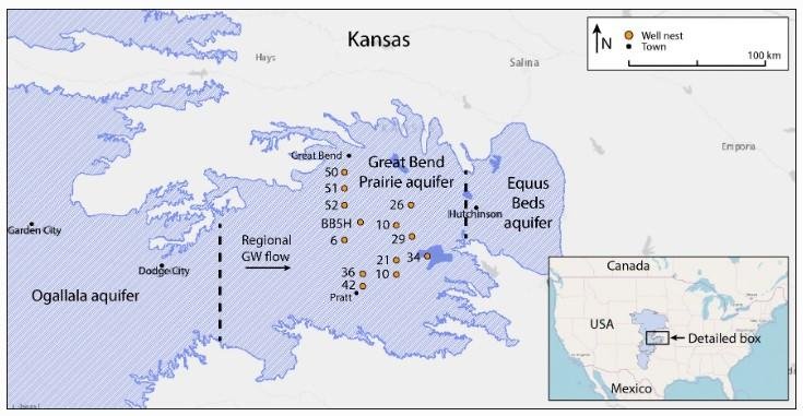 a map of wells in kansas
