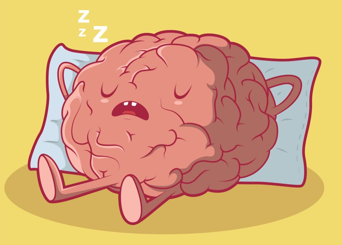 cartoon Sleeping Brain illustration