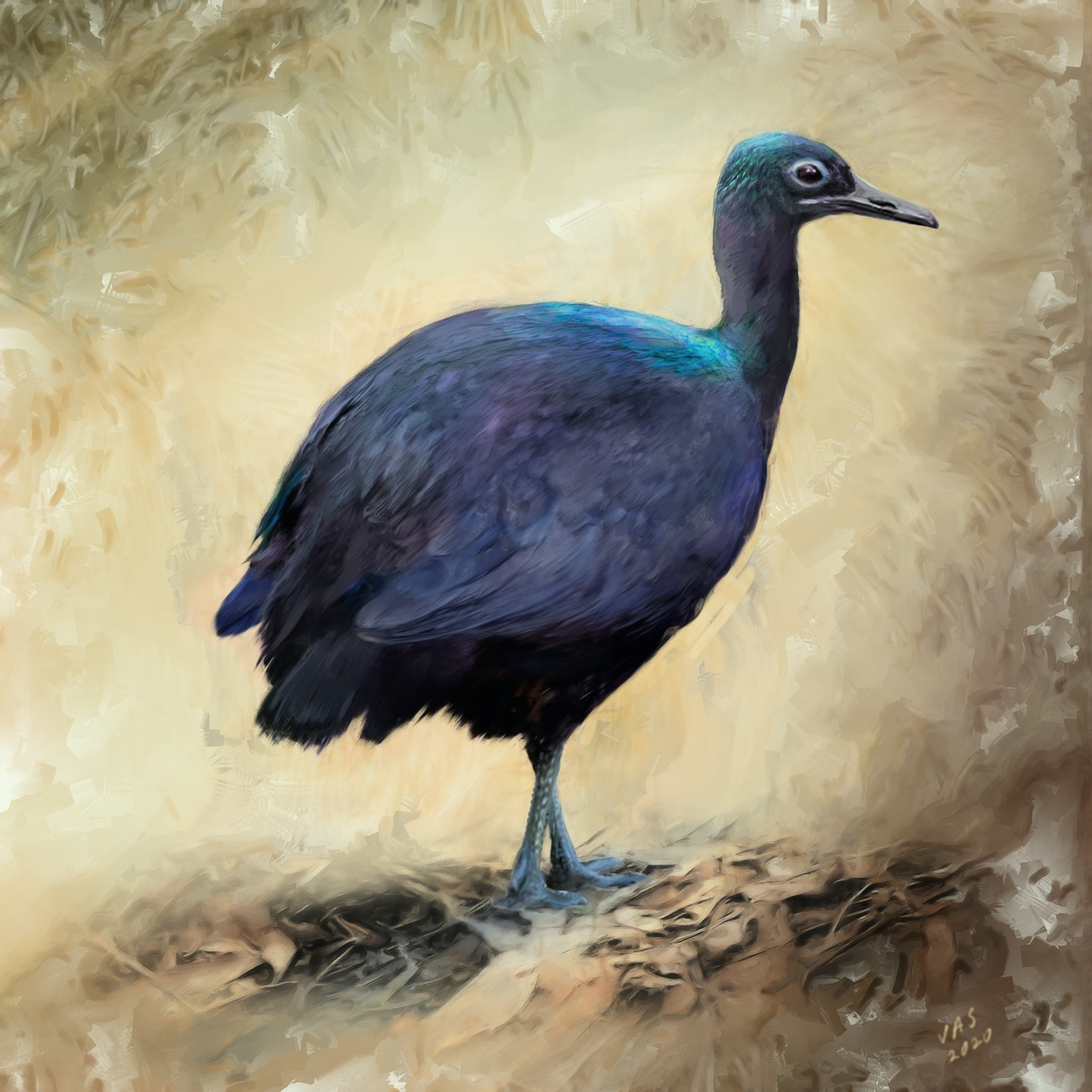 a painting of a colorful bird