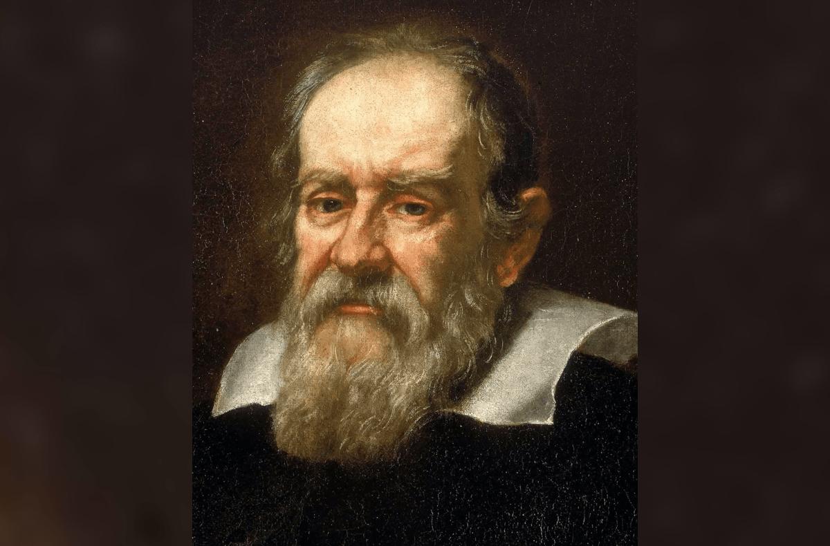 an oil painting of Galileo Galilei