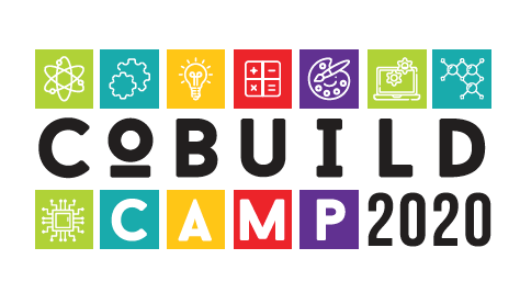Logo with colorful text that reads CoBuildCamp 2020