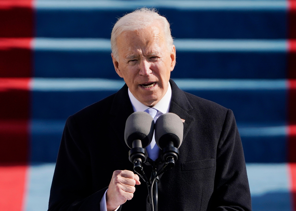 President Joe Biden speaks during the 59th Presidential Inauguration at the U.S. Capitol in Washington, Wednesday, Jan. 20, 2021.