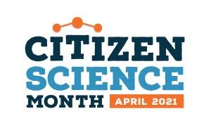 a logo reading citizen science month, april 2021