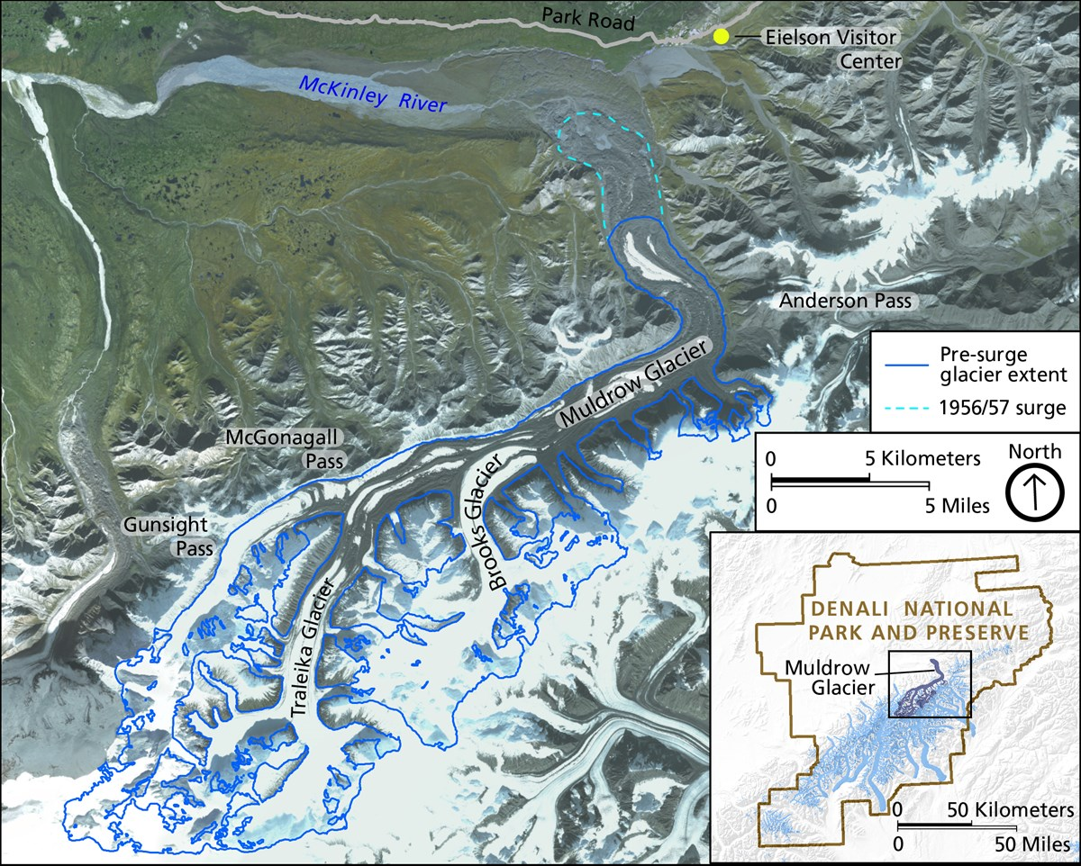 a map of the muldrow glacier