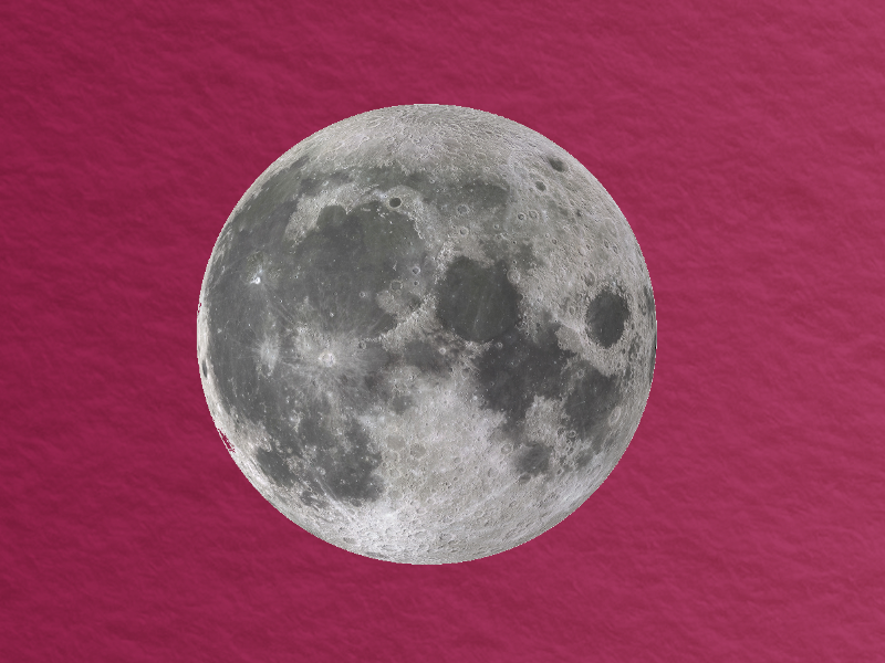Full moon on wine red background