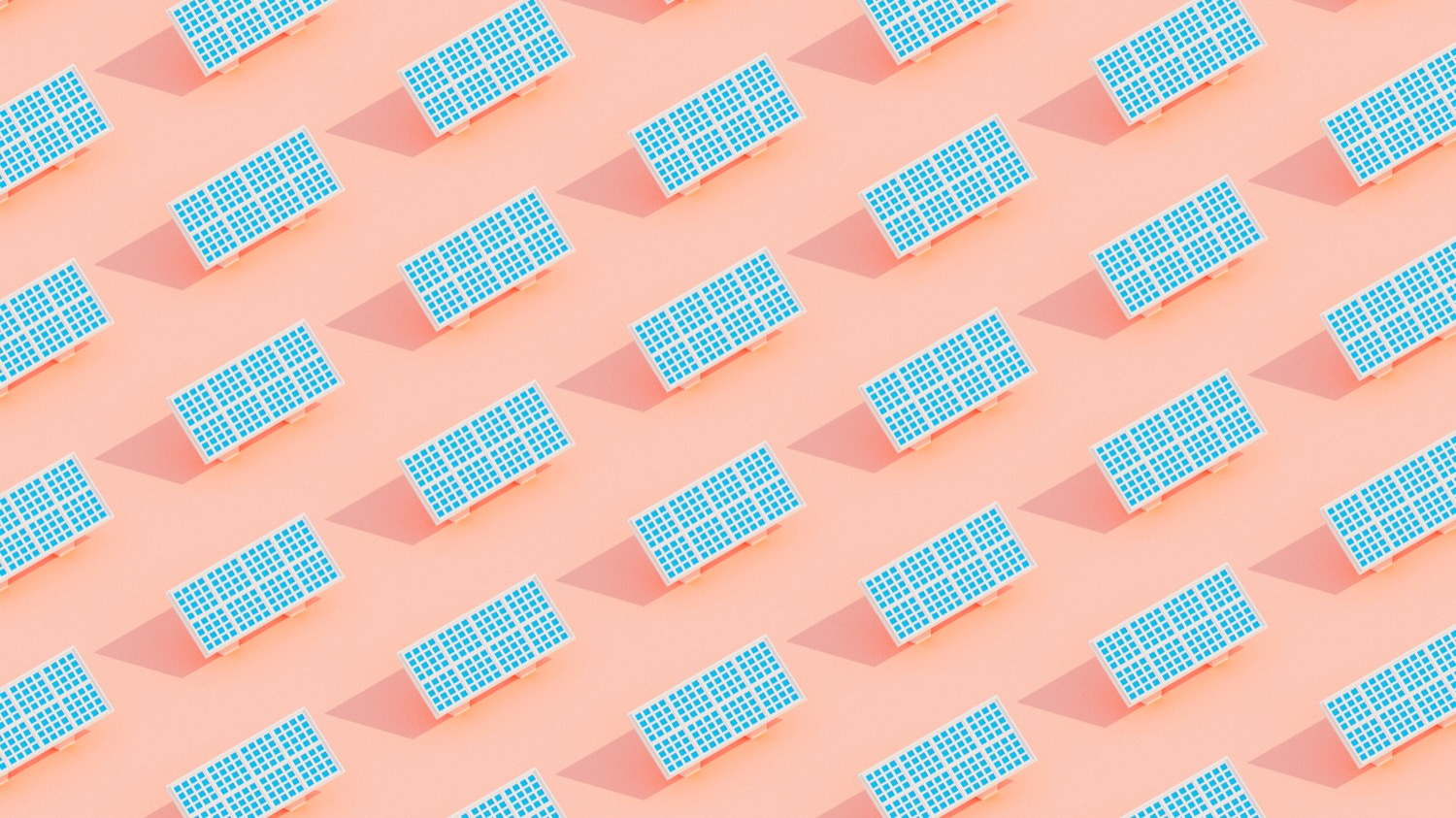 an illustration of repeated identical rows of solar panels