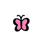 illustration of a pink butterfly